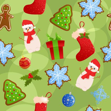 Seamless christmas background Stock Vector - 5933858