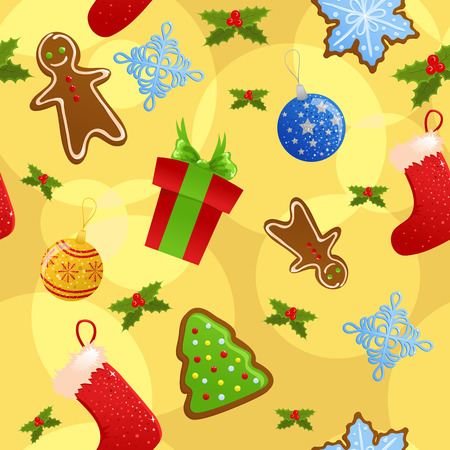 Seamless christmas background Stock Vector - 5933857