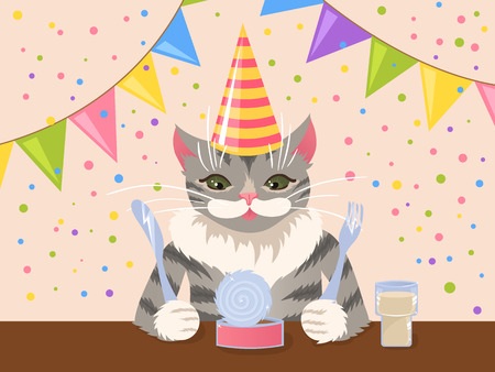 Birthday cat Stock Vector - 5933864