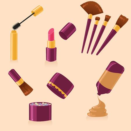 Set of make up Vector