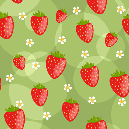 Seamless strawberry background Vector