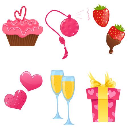 Valentijns pictogrammen Stock Illustratie