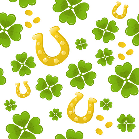 Seamless St.Patricks day background Vector