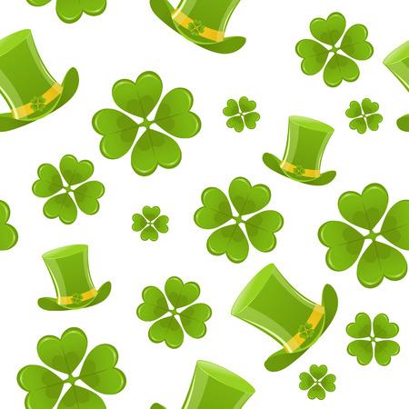 Naadloze St.Patricks dag achtergrond Stock Illustratie