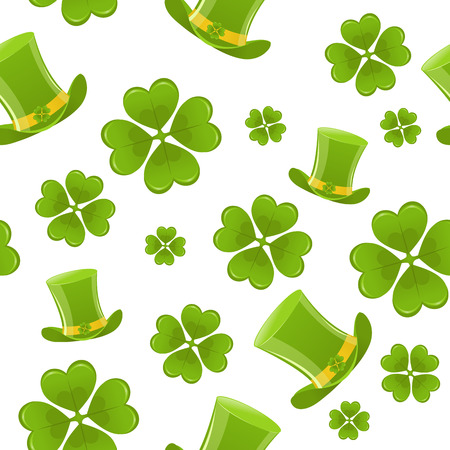 Seamless St.Patricks day background Stock Vector - 6365244