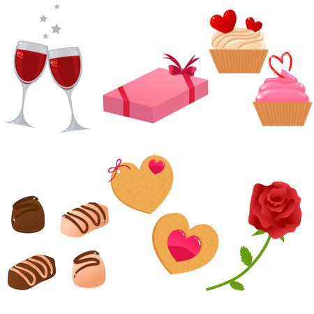Vektor-Valentine-Icon-set