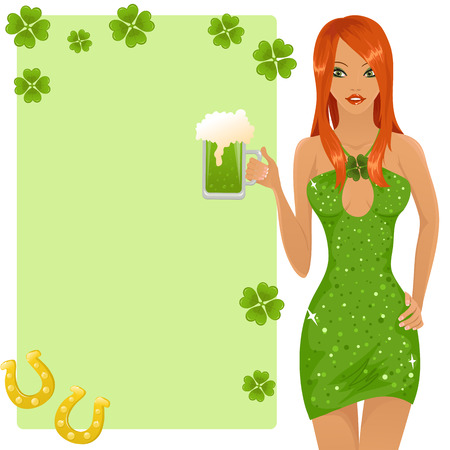 Cute leprechaun girl Stock Vector - 6509504