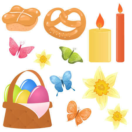 Set of Easter icons Stock Vector - 6509503