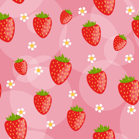 Nahtlose Erdbeer Hintergrund