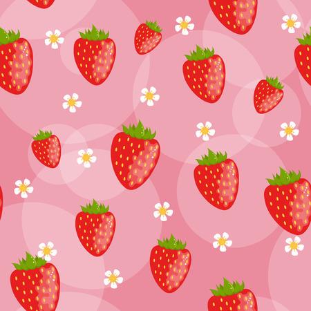 Nahtlose Erdbeer Hintergrund  Illustration