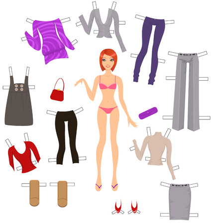 Dress-Up-Paper doll  Vektorgrafik