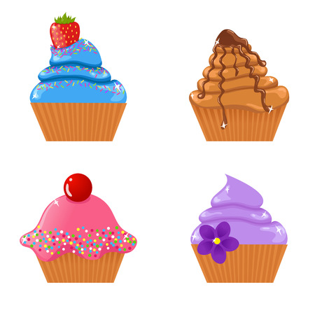 an icing: Set of  cupcakes