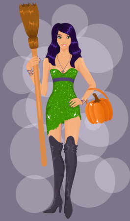 Sexy halloween witch Vector