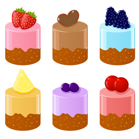blueberry muffin: Set of six cute shortcakes