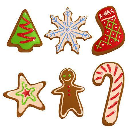 canes: Biscotti di Natale Vettoriali