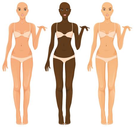 Vrouwelijke modellen Stock Illustratie