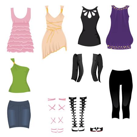 Vrouwelijke datum outfits Stock Illustratie