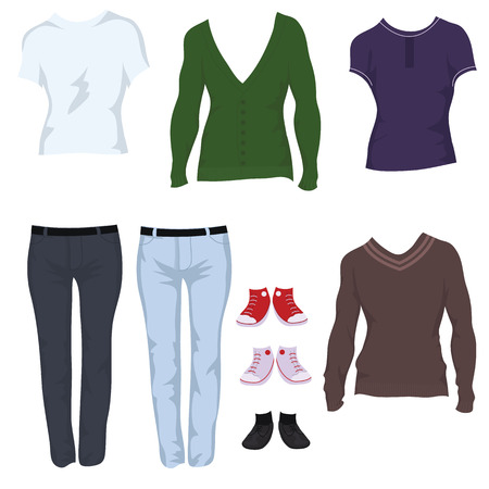 Male casual outfits Stock Vector - 8752882