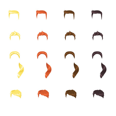 Assortment of male hairstyles Vector