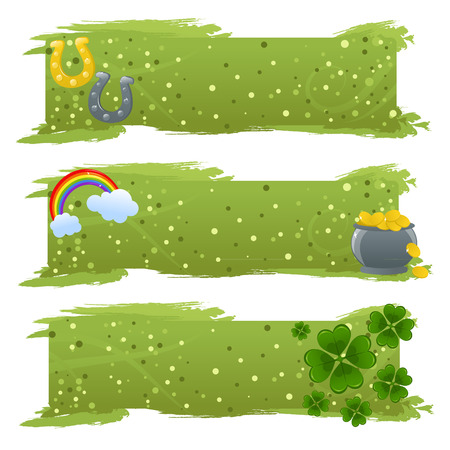 Set of St. Patricks day banners Vector