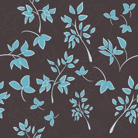 repeat: Seamless floral background Illustration