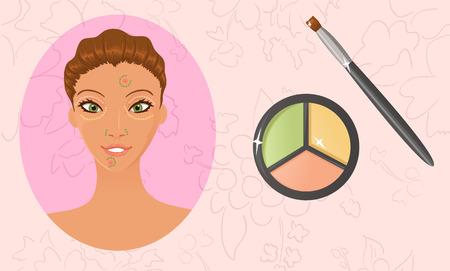 Anwenden von Gesicht Farbe Korrektoren Illustration