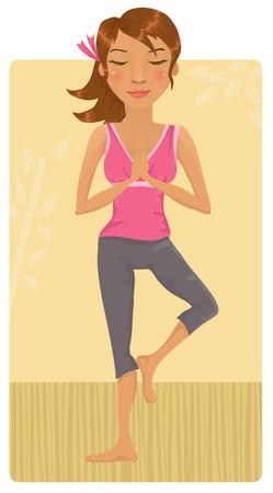 mind body soul: Girl doing yoga
