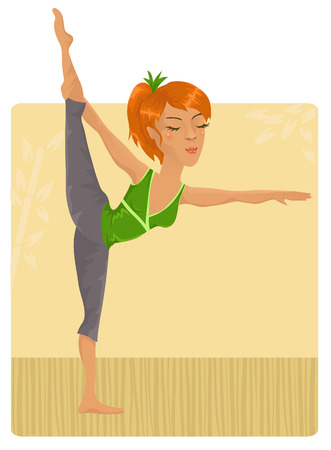 Girl doing yoga Stock Vector - 8951525