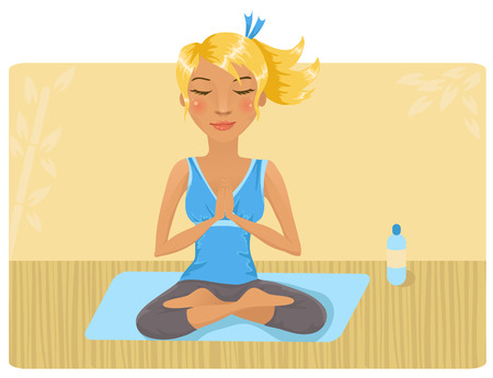 Girl doing yoga Stock Vector - 8951526