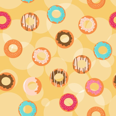Seamless donuts background Stock Vector - 9278077