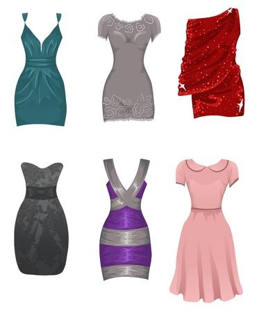 robes de soir�e: Ensemble de robes femmes Illustration
