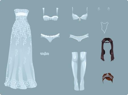 Weibliche Hochzeit Kleider