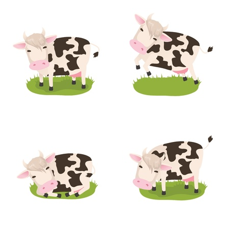 Set of cute vector cows Vector