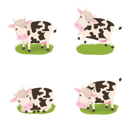 Set of cute vector cows Stock Vector - 17531757