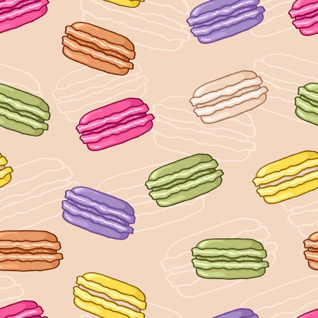 macaroon: Seamless colorful macaroon background