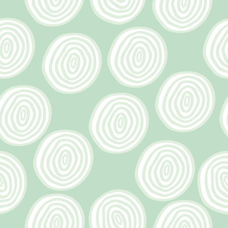 tiffany blue: seamless pattern with cute pastel doodle circles Illustration