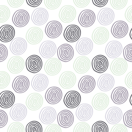 Seamless vector retro colored circle background Vector