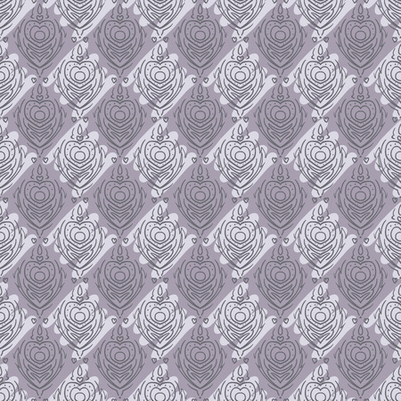 Vector seamless baroque damask luxury purple background Vector