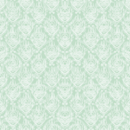 Vector seamless baroque damask luxury turquoise background Vector