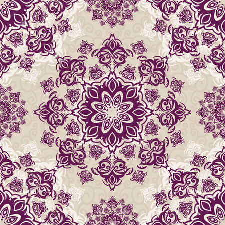 Vector seamless baroque damask luxury background Vector