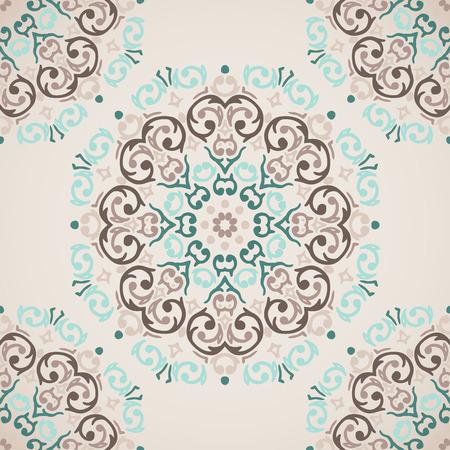 light brown background: Vector seamless baroque damask luxury background Illustration