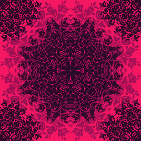 Vector seamless baroque damask luxury background 일러스트