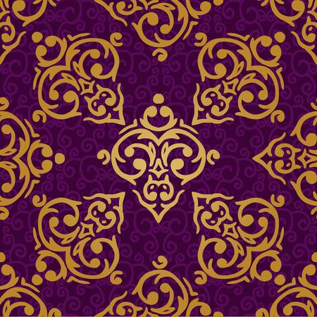 seamless baroque damask luxury background