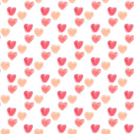seamless watercolor hearts background