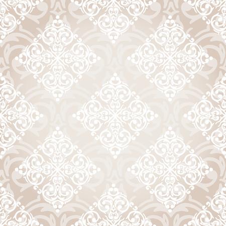 Vector seamless baroque damask luxury background Illustration