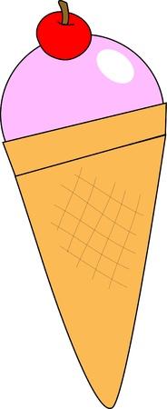 Ice-Cream Cone Stock Vector - 21488113