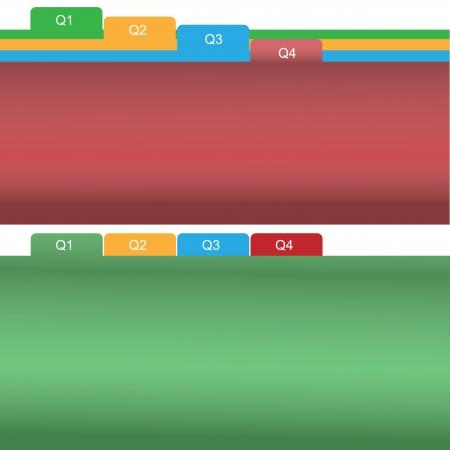 colorful Quater Tab Illustration