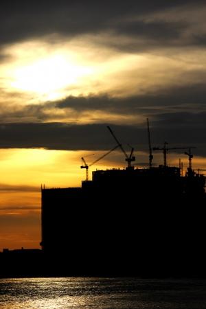 At dawn scene near Rama III Bridge