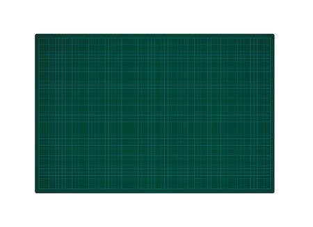 Green Cutting Mat Illustration