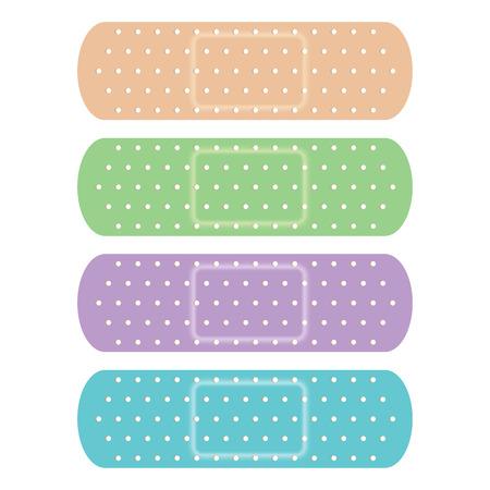 Four Colours Bandage  Illustration